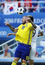 June 18, 2018 - Nizhniy Novgorod, Russia - Group F Sweden v Korea Republic - FIFA World Cup Russia 2018..Pontus Jansson (Sweden) at Nizhny Novgorod Stadium, Russia on June 18, 2018. (Credit Image: © Matteo Ciambelli/NurPhoto via ZUMA Press)
