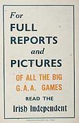 All Ireland Senior Hurling Championship Final,.Brochures,.07.09.1947, 09.07.1947, 7th September 1947,.Kilkenny 0-14, Cork 2-7,.Minor Galway v Tipperary, .Senior Kilkenny v Cork, .Croke Park,..Advertisements, Irish Independent,