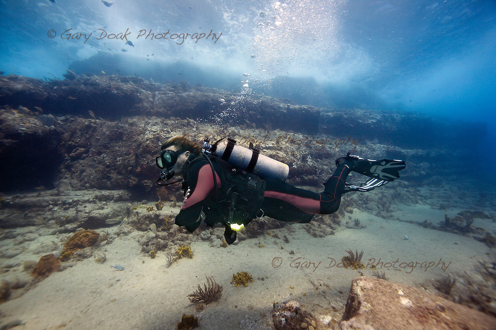 Diving out of English Harbour, Antigua..
