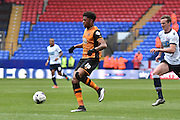 HUll City Forward, Chuba Akpom on the ball during the Sky Bet Championship match between Bolton Wanderers and Hull City at the Macron Stadium, Bolton, England on 30 April 2016. Photo by Mark Pollitt.