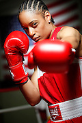 6/24/11 2:48:49 PM -- Colorado Springs, CO. -- A portrait of U.S. Olympic lightweight boxer Queen Underwood, 27, of Seattle, Wash. who will be competing for her fifth title. She began boxing in 2003 and was the 2009 Continental Champion and the 2010 USA Boxing National Champion. She is considered a likely favorite to medal at the 2012 Summer Olympics in London as women's boxing makes its debut as an Olympic sport. -- ...Photo by Marc Piscotty, Freelance.