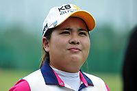 (140226) -- SINGAPORE, Feb. 26, 2014 (Xinhua) -- Inbee Park of South Korea reacts during the pre-match activity at Singapore s Sentosa Golf Club, Feb. 26, 2014. Players of HSBC Women s Champions participated in the pre-match Pro-Am Shotgun tournament Wednesday.<br /> <br /> Norway only