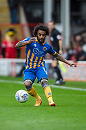 Junior Brown of Shrewsbury Town in action during the EFL Sky Bet League 1 match between Walsall and Shrewsbury Town at the Banks's Stadium, Walsall, England on 7 October 2017. Photo by Darren Musgrove.