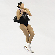 Mirai Nagasu competes during the championship ladies free skate at the 2014 US Figure Skating Championships at the TD Garden on January 11, 2014 in Boston, Massachusetts.