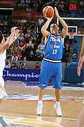 DESCRIZIONE : Madrid Spagna Spain Eurobasket Men 2007 Qualifying Round Germania Italia Germany Italy GIOCATORE : Fabio Di Bella<br /> SQUADRA : Nazioanle Italia Uomini Italy <br /> EVENTO : Eurobasket Men 2007 Campionati Europei Uomini 2007 <br /> GARA : Germania Italia Germany Italy <br /> DATA : 12/09/2007 <br /> CATEGORIA : Tiro <br /> SPORT : Pallacanestro <br /> AUTORE : Ciamillo&amp;Castoria/H.Bellenger Galleria : Eurobasket Men 2007 <br /> Fotonotizia : Madrid Spagna Spain Eurobasket Men 2007 Qualifying Round Germania Italia Germany Italy Predefinita :MADRID 12 SETTEMBRE 2007BASKET EUROPEI GERMANI-ITALIANELLA FOTO BARGNANIFOTO CIAMILLO-CASTORIA
