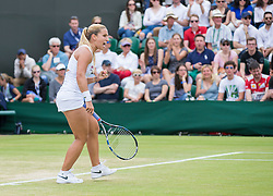 WIMBLEDON - GB -  4th July 2016: The Wimbledon Tennis Championship continues at the All England Lawn Tennis Club in S.E. London.<br /> <br /> Agnieszka RADWANSKA vs Dominika CIBULKOVA (SVK) <br /> Photo by Ian JonesWIMBLEDON - GB -  4th July 2016: The Wimbledon Tennis Championship continues at the All England Lawn Tennis Club in S.E. London.<br /> <br /> <br /> Photo by Ian Jones<br /> <br /> Pic Shows: Dominika Cibulkova