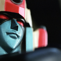 Close-up of Mattell toy Shogun Warrior Daimos.