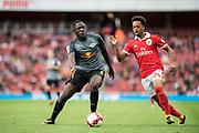 RB Leipzig Ibrahima Konate (6) and Chris Willock (24) during the Emirates Cup 2017 match between Leipzig and Benfica at the Emirates Stadium, London, England on 30 July 2017. Photo by Sebastian Frej.