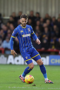 Callum Kennedy of AFC Wimbledon in action during the Sky Bet League 2 match between AFC Wimbledon and Stevenage at the Cherry Red Records Stadium, Kingston, England on 12 December 2015. Photo by Stuart Butcher.