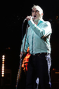 Photos of the British singer Morrissey performing live at Radio City Music Hall, NYC. October 10, 2012. Copyright © 2012 Matthew Eisman. All Rights Reserved.