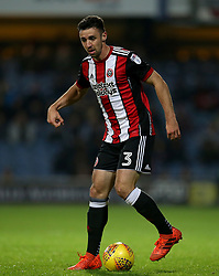 "Sheffield United's Enda Stevens in action during the game during the Sky Bet Championship match at Loftus Road, London. PRESS ASSOCIATION Photo. Picture date: Tuesday October 31, 2017. See PA story SOCCER QPR. Photo credit should read: Steven Paston/PA Wire. RESTRICTIONS: EDITORIAL USE ONLY No use with unauthorised audio, video, data, fixture lists, club/league logos or ""live"" services. Online in-match use limited to 75 images, no video emulation. No use in betting, games or single club/league/player publications."