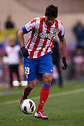 MADRID, SPAIN- FEBRUARY 24: Diego Costa of Club Atletico de Madrid in action during the Liga BBVA between Atletico de Madrid and RCD Espanyol at the Vicente Calderon stadium on February 24, 2013 in Madrid, Spain. (Photo by Aitor Alcalde Colomer).