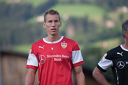 06.08.2014, Sportplatz, Fügen, AUT, Testspiel, VfB Stuttgart vs Caykur Rizespor, im Bild Florian Klein // during a friendly Match between VfB Stuttgart and Caykur Rizespor at the Football Stadium in Fügen, Austria on 2014/08/06. EXPA Pictures © 2014, PhotoCredit: EXPA/ Jakob Gruber