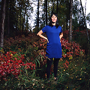 Poet Joan Kane at her home in Anchorage, Alaska. 2012