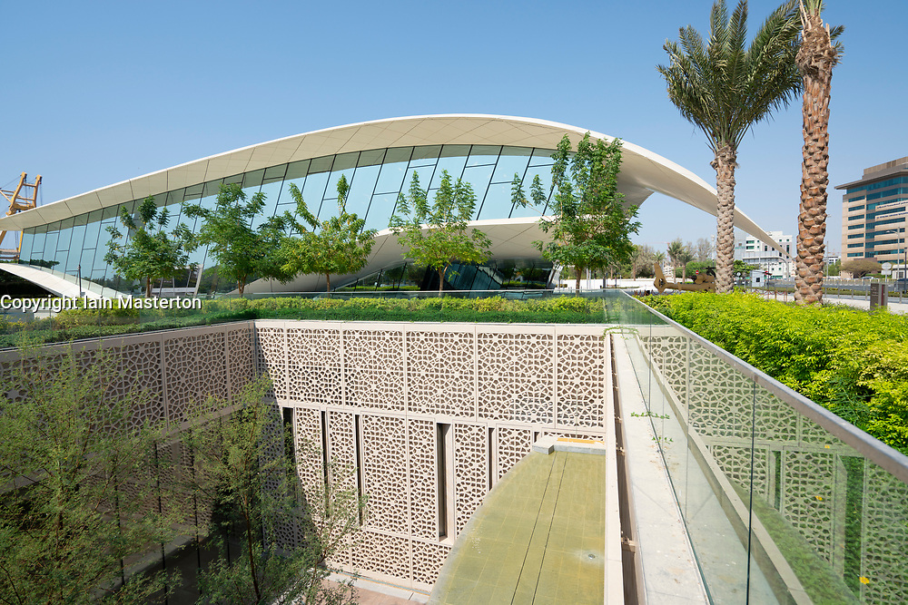 Modern Etihad Museum , a history museum of the UAE, in Dubai, United Arab Emirates.