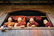 Monks, Kwin Ka Lay village, Kayin State.