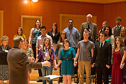 Homecoming 2014 worship with the Choir of the West at PLU on Sunday, Oct. 5, 2014. (PLU Photo/John Froschauer)
