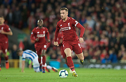 LIVERPOOL, ENGLAND - Friday, April 26, 2019: Liverpool's captain Jordan Henderson during the FA Premier League match between Liverpool FC and Huddersfield Town AFC at Anfield. (Pic by David Rawcliffe/Propaganda)