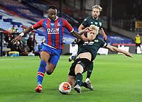 Football - 2019 / 2020 Premier League - Crystal Palace vs Burnley<br /> <br /> Goalscorer , Mee of Burnley challenges Jordan Ayew, at Selhurst Park<br /> <br /> COLORSPORT/ANDREW COWIE