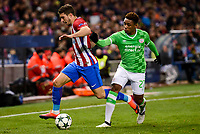 Atletico de Madrid's player Sime Vrsaljko and PSV Eindhoven's player Steven Bergwijn during a match of La Liga at Santiago Bernabeu Stadium in Madrid. November 06, Spain. 2016. (ALTERPHOTOS/BorjaB.Hojas)