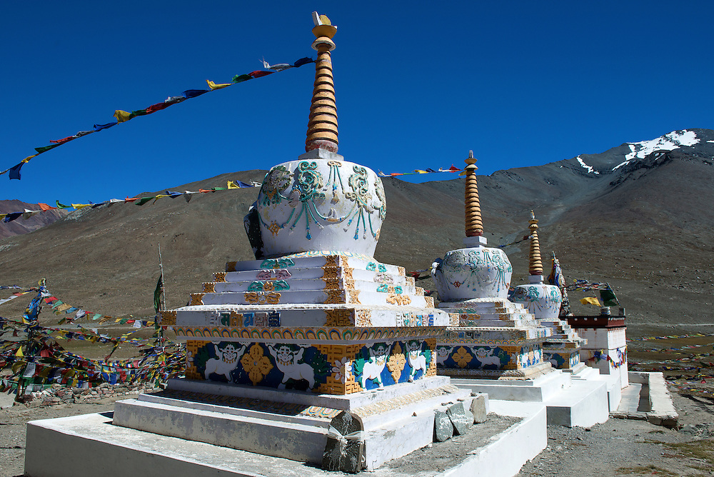 Kunzum Pass Devi Temple at Himachal Pradesh State of India