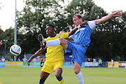 AFC Wimbledon forward Toyosi Olusanya during the Pre-Season Friendly match between Margate and AFC Wimbledon at Hartsdown Park, Margate, United Kingdom on 16 July 2016. Photo by Stuart Butcher.