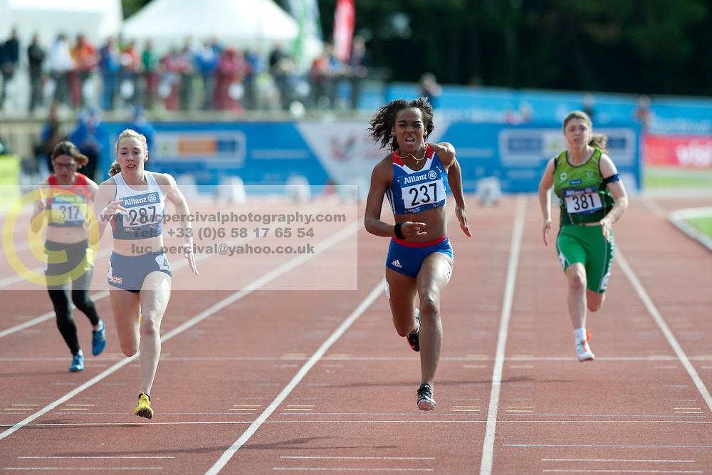 MCLOUGHLIN Jenny, FRANCOIS-ELIE Mandy, JAMESON Heather, 2014 IPC European Athletics Championships, Swansea, Wales, United Kingdom