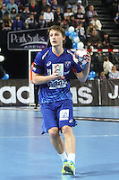 Jure Dolenec / Dragan Gajic - 15.03.2015 - Montpellier / Kielce - 1/8Finale aller Ligue des Champions<br /> Photo : Andre Delon / Icon Sport