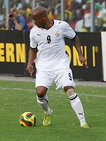 Photo: Steve Bond/Richard Lane Photography.<br />Ghana v Guinea. Africa Cup of Nations. 20/01/2008. Junior Agogo attacks