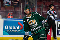 KELOWNA, BC - JANUARY 09: Sahvan Khaira #86 of the Everett Silvertips warms up against the Kelowna Rockets  at Prospera Place on January 9, 2019 in Kelowna, Canada. (Photo by Marissa Baecker/Getty Images)
