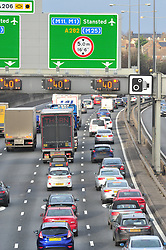 © Licensed to London News Pictures. 23/12/2016<br /> Heavy anti clock-wise traffic on the M25 TOWARDS Dartford crossing.<br /> Christmas Getaway traffic on the M25 in Dartford,Kent.<br /> Photo credit :Grant Falvey/LNP