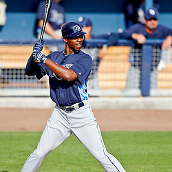 February 25, 2011; Port Charlotte, FL, USA; Tampa Bay Rays center fielder B.J. Upton (2) during a spring training split squad scrimmage at Charlotte Sports Park.  Mandatory Credit: Derick E. Hingle