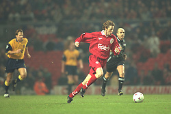 Liverpool, England - Wednesday, November 27th, 1996: Liverpool's Steve McManaman in action during the 4-2 victory over Arsenal during the 4th Round of the League Cup at Anfield. (Pic by David Rawcliffe/Propaganda)