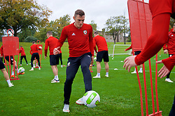 CARDIFF, WALES - Saturday, October 13, 2018: Wales' Connor Roberts during a training session at the Vale Resort ahead of the UEFA Nations League Group Stage League B Group 4 match between Republic of Ireland and Wales. (Pic by David Rawcliffe/Propaganda)