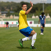 TOULON, FRANCE June 15.  Antony #7 of Brazil celebrates after scoring during the Brazil U22 V Japan U22 Final match at the Tournoi Maurice Revello at Stade D'Honneur on June 15th 2019 in Toulon, Provence, France. (Photo by Tim Clayton/Corbis via Getty Images)