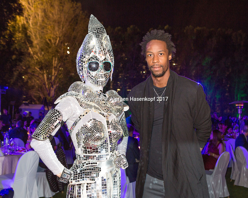GAEL MONFILS (FRA), Players Party<br /> <br /> Tennis - Dubai Duty Free Tennis Championships - ATP -  Players Party - Dubai -  - United Arab Emirates  - 28 February 2017. <br /> &copy; Juergen Hasenkopf