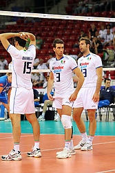 L'ITALIA ESULTA.ITALIA - FINLANDIA.PALLAVOLO TORNEO QUALIFICAZIONE OLIMPICA VOLLEY 2012.SOFIA (BULGARIA) 08-05-2012.FOTO GALBIATI - RUBIN