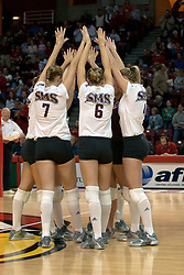 06 November 2004....SMS Bears....Illinois State University Redbirds V SouthWest Missouri State University Bears Volleyball.  Redbird Arena, Illinois State University, Normal IL..Illinois State Redbirds v Southwest Missouri State