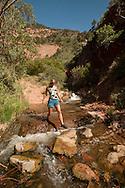 Hiking Kanarra Creek Falls near Cedar City, Utah