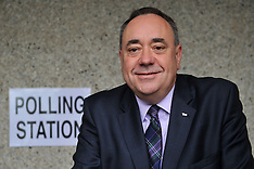 SEPT 18 2014 Alex Salmond voting in Strichen