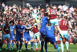 Kevin Long of Burnley (2nd R) scores his sides second goal - Mandatory by-line: Jack Phillips/JMP - 14/04/2018 - FOOTBALL - Turf Moor - Burnley, England - Burnley v Leicester City - English Premier League