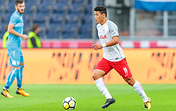 26.07.2017, Red Bull Arena, Salzburg, AUT, UEFA CL, FC Salzburg vs HNK Rijeka, Qualifikation, 3. Runde, Hinspiel, im Bild Hee Chan Hwang (FC Red Bull Salzburg) // during the UEFA Championsleague Qualifier 3rd round, 1st leg match between FC Salzburg and HNK Rijeka at the Red Bull Arena in Salzburg, Austria on 2017/07/26. EXPA Pictures © 2017, PhotoCredit: EXPA/ JFK