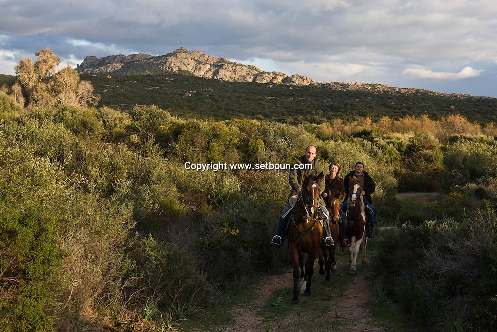 Corsica. France. Horse riding around Tradicetto ,    Corsica south  France / /   / randonnee a cheval campagne de Tradicetto,   Corse du sud  France  /