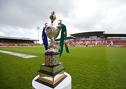 WREXHAM, WALES - Monday, May 2, 2016: The Welsh Cup trophy before the 129th Welsh Cup Final at the Racecourse Ground between The New Saints and Airbus UK Broughton. (Pic by David Rawcliffe/Propaganda)