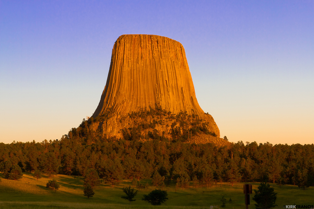 Proclaimed America's First National Monument by Theodore Roosevelt in 1906, Devils Tower rises 1267 feet above the Belle Fourche River.