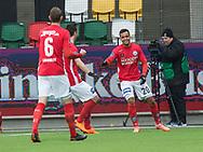 FODBOLD: Marc Rochester Sørensen (Silkeborg IF) jubler efter scoringen til 1-0 under kampen i ALKA Superligaen mellem Silkeborg IF og FC Helsingør den 31. marts 2018 i Jysk Park, Silkeborg. Foto: Claus Birch.