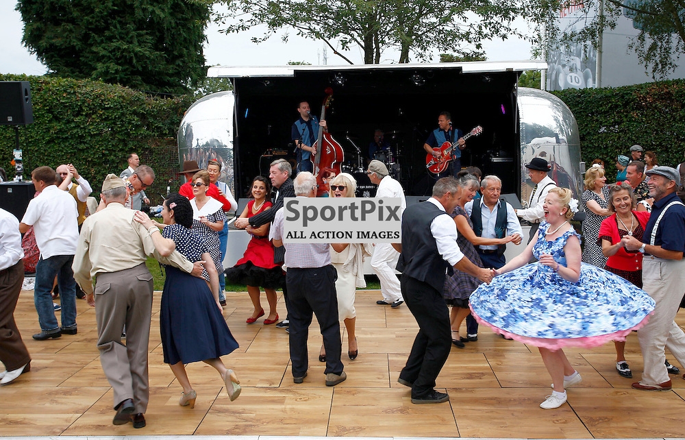 GOODWOOD REVIVAL.....One of the attractions which add authenticity for  the crowds at The Goodwood Revival ..(c) STEPHEN LAWSON | SportPix.org.uk