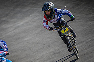 8 Boys #77 (BURGOS Arjuna) USA at the 2018 UCI BMX World Championships in Baku, Azerbaijan.