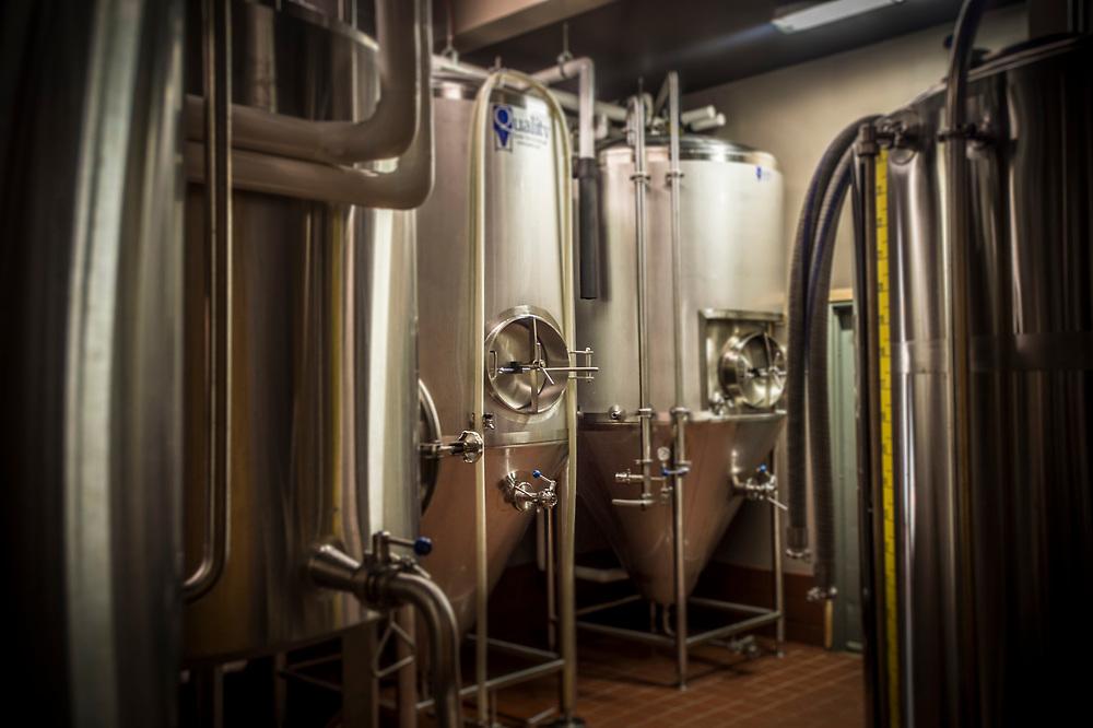 Brewing facility at Ore Dock Brewing Company, Marquette, Michigan.