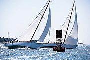 Neith and Dorade sailing in the Newport Classic Yacht Regatta.